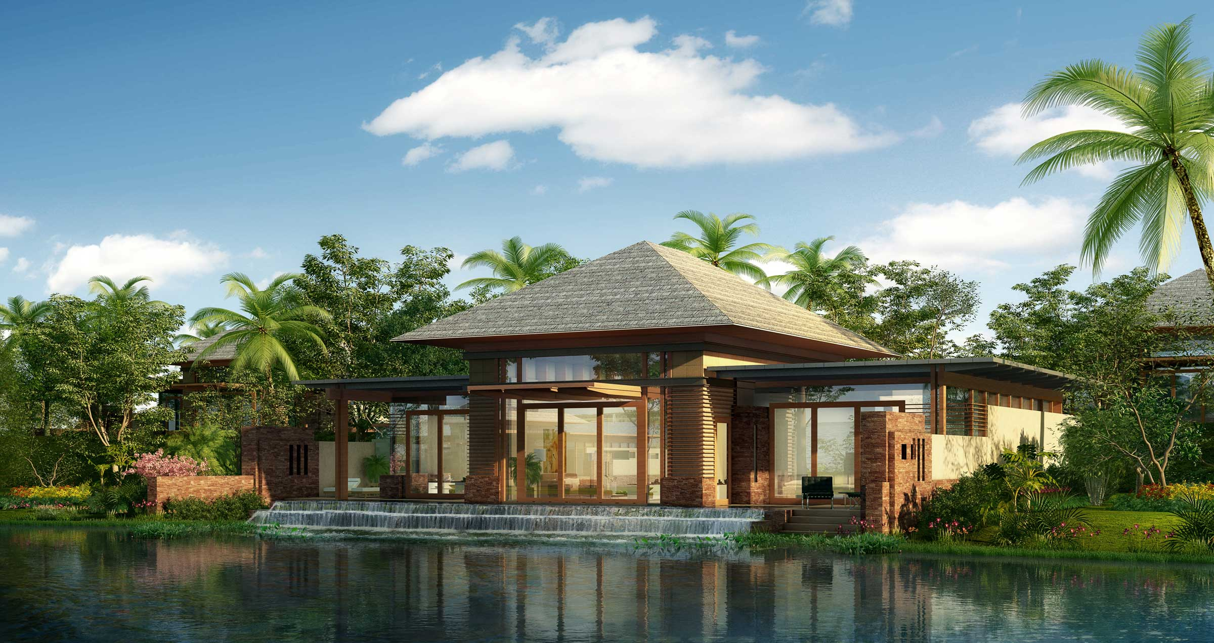 A luxurious tropical resort hotel architecture design for Luxury resorts