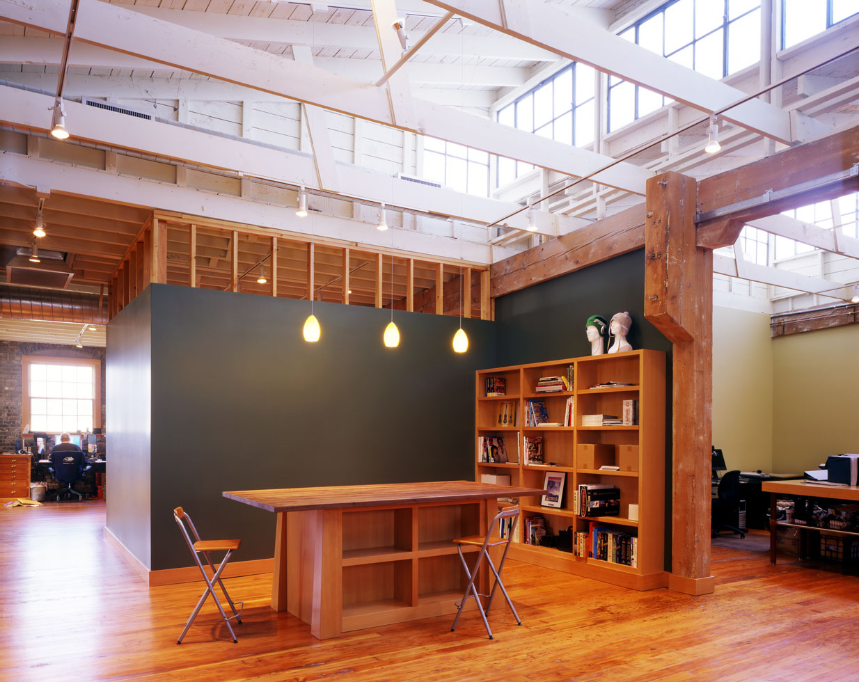 creative office space brick and timber architecture